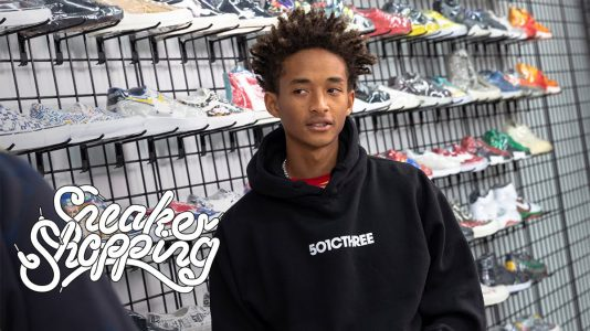 Jaden Smith Goes Sneaker Shopping
