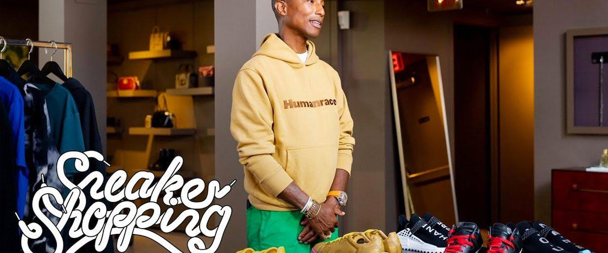 Pharrell Williams Goes Sneaker Shopping